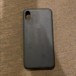 iPhone X Max Black Apple Soft Case